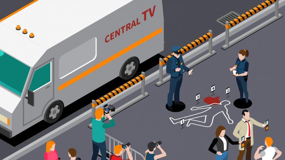 Illustration Of A Crime Scene